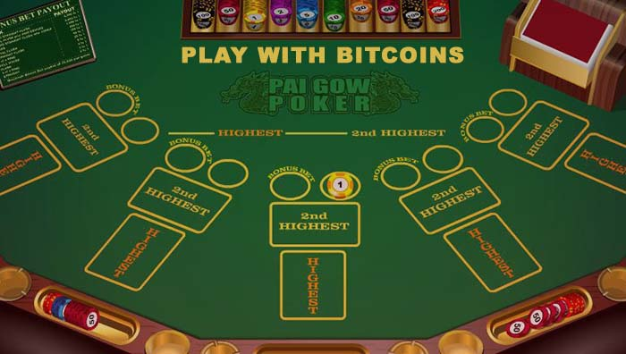 Play Pai Gow Poker online with BTC
