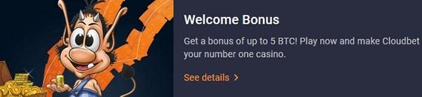 cloudbet online casino signup bonus