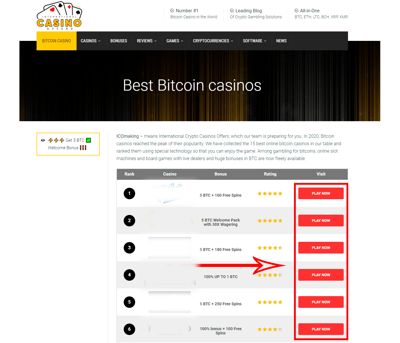 bitcoin blackjack sites