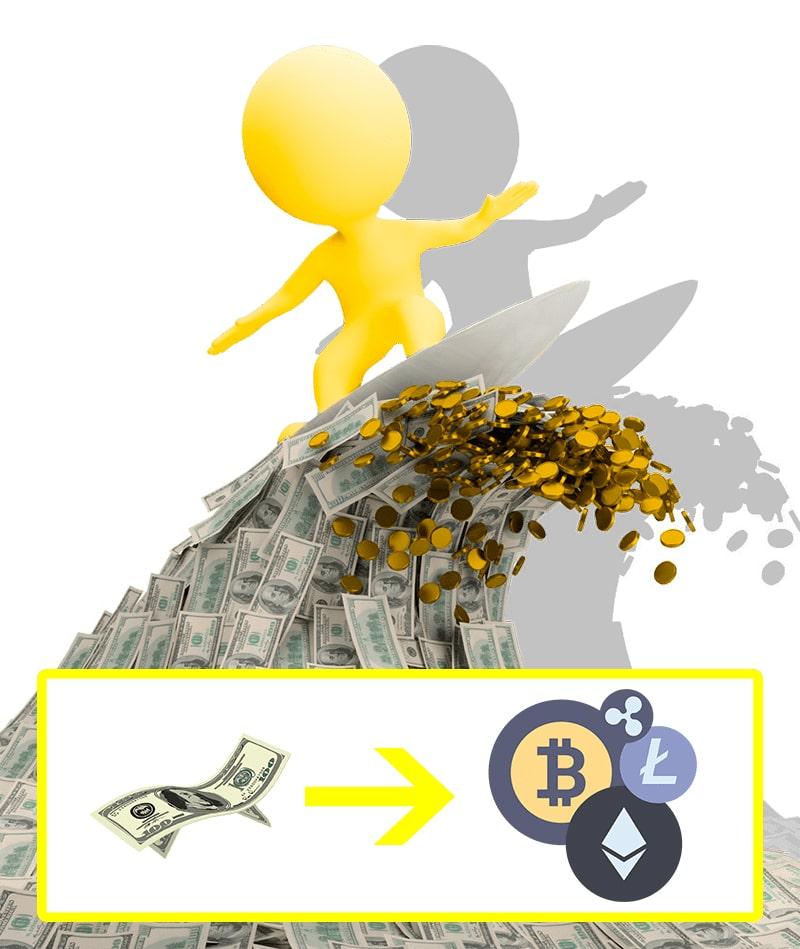 money to crypto